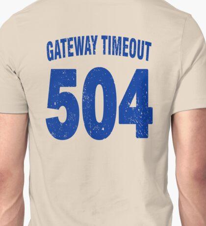 Team shirt - 504 Gateway Timeout, blue letters Unisex T-Shirt