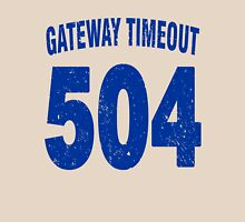 Team shirt - 504 Gateway Timeout, blue letters Unisex T-Shirt