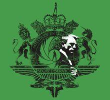 50th Anniversary James Bond Tee_Grunge effect Kids Clothes