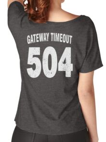 Team shirt - 504 Gateway Timeout, white letters Women's Relaxed Fit T-Shirt