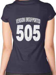 Team shirt - 505  Unsupported Version, white letters Women's Fitted Scoop T-Shirt