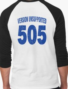 Team shirt - 505  Unsupported Version, blue letters Men's Baseball ¾ T-Shirt