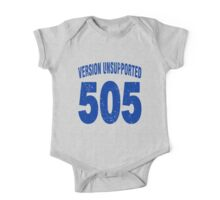Team shirt - 505  Unsupported Version, blue letters One Piece - Short Sleeve