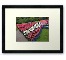 Flamboyant Flowerbed - Keukenhof Gardens Framed Print