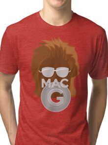 Vector MacGyver Hair Tri-blend T-Shirt