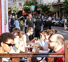 dining in Paris by Anne Scantlebury