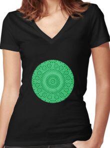 green heart chakra Women's Fitted V-Neck T-Shirt