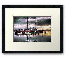 Port Albert Boats  Framed Print