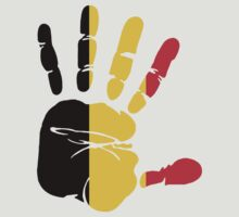 Hand print of flag of Belgium by nadil
