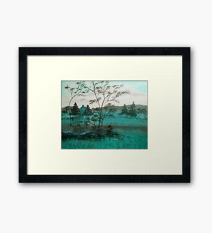 Vriksasana Tree Pose Framed Print
