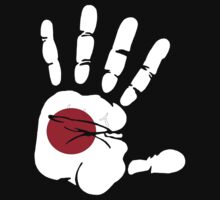 Hand print of flag of Japan by nadil