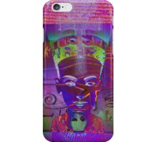 Nefertiti_Ankh in Violet iPhone Case/Skin