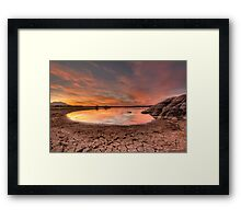 Evaporating Sunset Framed Print