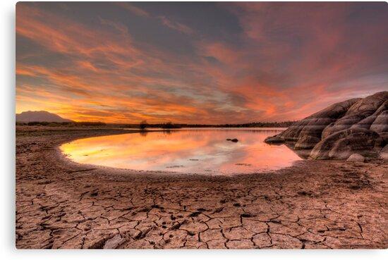 Evaporating Sunset by Bob Larson