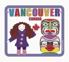 Curly Orli Totem T-Shirt - Vancouver, Canada Kids Tee