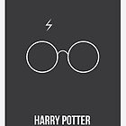 Harry Potter Minimalist Poster by Nick Symeou