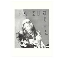 Guitar girl Art Print
