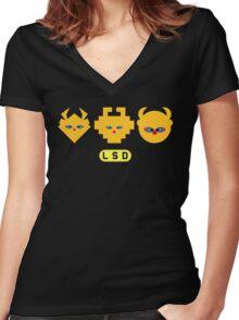 LSD: Dream Emulator - Mascot Heads Women's Fitted V-Neck T-Shirt