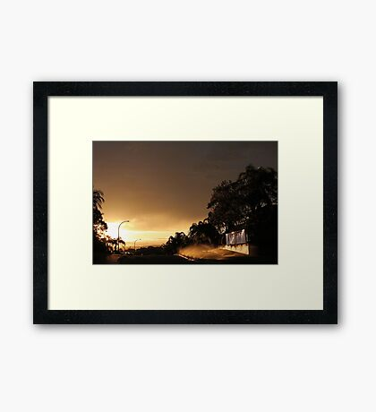 Suburban Sunrise  Framed Print