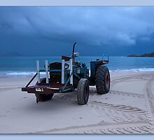 Beached Tractor by kevin chippindall