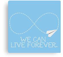 live forever - blue Canvas Print
