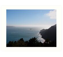 Outbound from San Francisco Bay, California Art Print