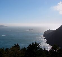 Outbound from San Francisco Bay, California by Joni  Rae