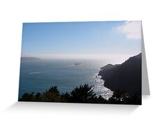 Outbound from San Francisco Bay, California Greeting Card