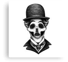 Stack's Skull Sunday No. 8 (Charlie Chaplin) Canvas Print