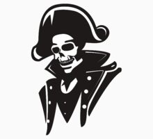 Captain Pirate Skull  Kids Tee