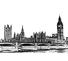 Westminster Bridge and Westminster Photographic Print