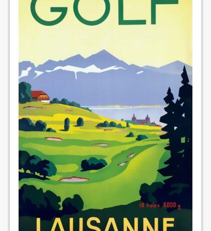 Golf Lausanne Switzerland Travel Advertisement Sticker