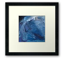 blue square I Framed Print