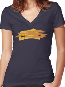 TIE Fighters - Star Wars: The Force Awakens Women's Fitted V-Neck T-Shirt