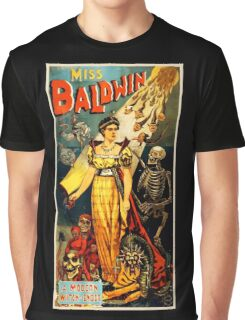 Miss Baldwin Magician Vintage Advertisement Graphic T-Shirt