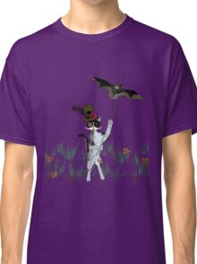 Steampunk Kitty Flying A Bat Classic T-Shirt