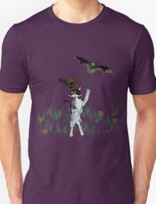 Steampunk Kitty Flying A Bat T-Shirt