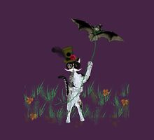 Steampunk Kitty Flying A Bat Unisex T-Shirt