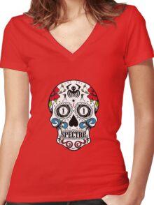 007 spectre skull logo 1 Women's Fitted V-Neck T-Shirt