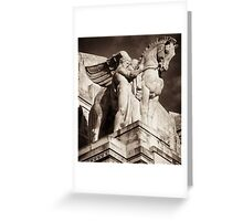 hellenic pegasus & guide Greeting Card