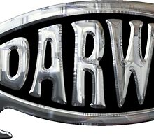 Darwin Fish Chrome Silver Sticker by ukedward