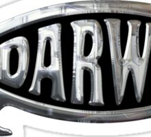 Darwin Fish Chrome Silver Sticker Sticker