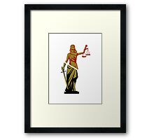 Red and Bronze Statue Framed Print