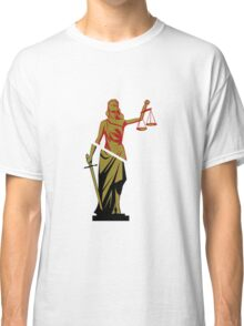 Red and Bronze Statue Classic T-Shirt