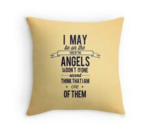 The Side of the Angels Throw Pillow