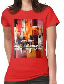 City harbour seascape painting Womens Fitted T-Shirt