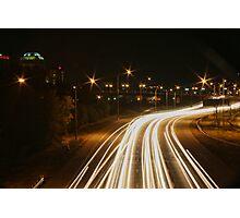 Traffic Trails on I-25 #1 Photographic Print