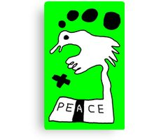 The Troubled Peace Dove Canvas Print