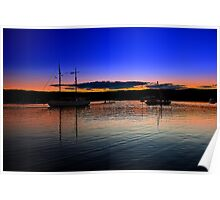Sunset by the sea at Gosford Poster