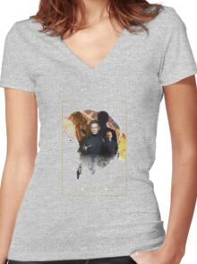 24th james bond movie spectre Women's Fitted V-Neck T-Shirt